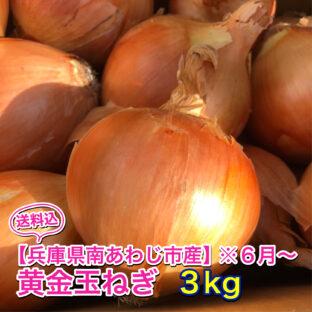【兵庫県南あわじ市産】黄金玉ねぎ※6月上旬〜 3kg